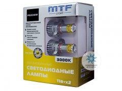 Набор светодиодов MTF-Light 12/24В, PSX24W, 3000К BL
