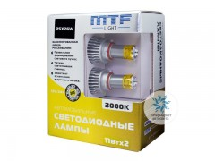 Набор светодиодов MTF-Light 12/24В, PSX26W, 3000К BL