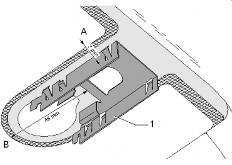 Крепление датчика дождя с помощью кронштейна