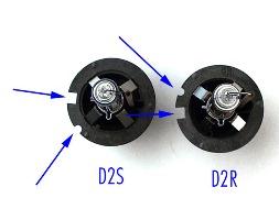 Отличия ламп с цоколями D2S и D2R