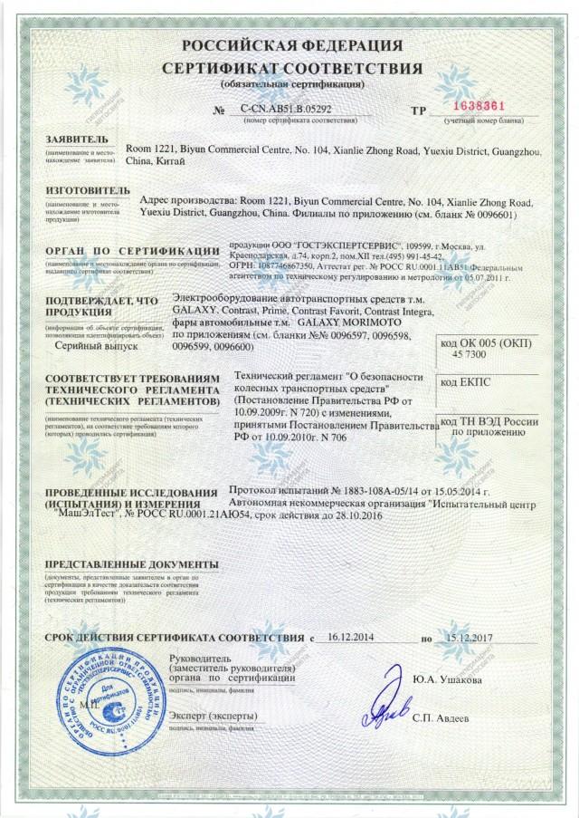 Сертификат по билинзам