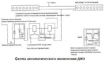 shemy podklyucheniya dho 10 mini - Как подсоединить дневные ходовые огни