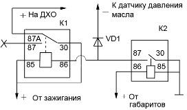 Схема включения света при запуске двигателя фото 20