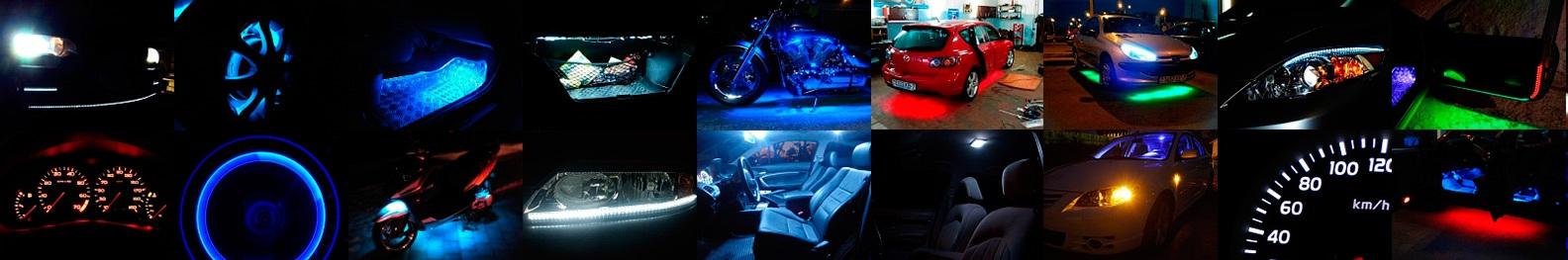 Где можно применять светодиоды в автомобиле?