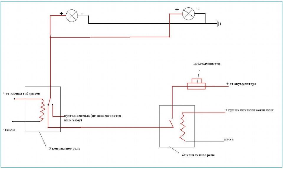 Схема установки светодиодные модули 175